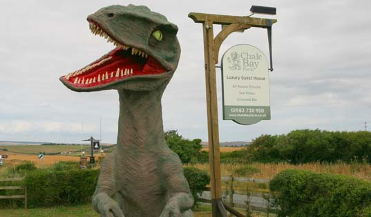 Ellie the Dinosaur at Chale Bay Farm
