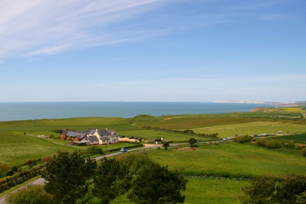 Chale Bay Farm from the Tower of St Andrews Church