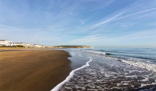 Sandown beach, image courtesy of Visit Isle of Wight