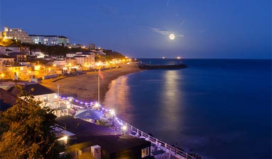 Ventnor at night, image courtesy of Visit Isle of Wight