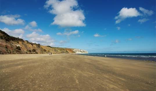 Yaverland beach, image courtesy of Visit Isle of Wight